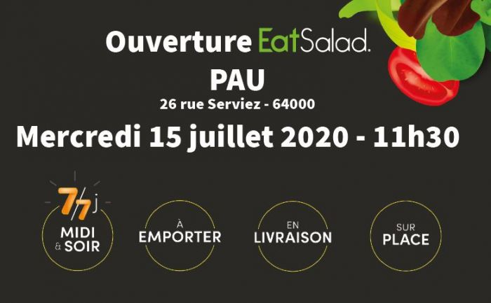 Eat Salad ouvre son 37e établissement franchisé à Pau