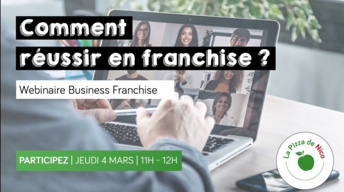 Comment réussir en franchise ? La Pizza de Nico vous invite à un Webinaire Business Franchise
