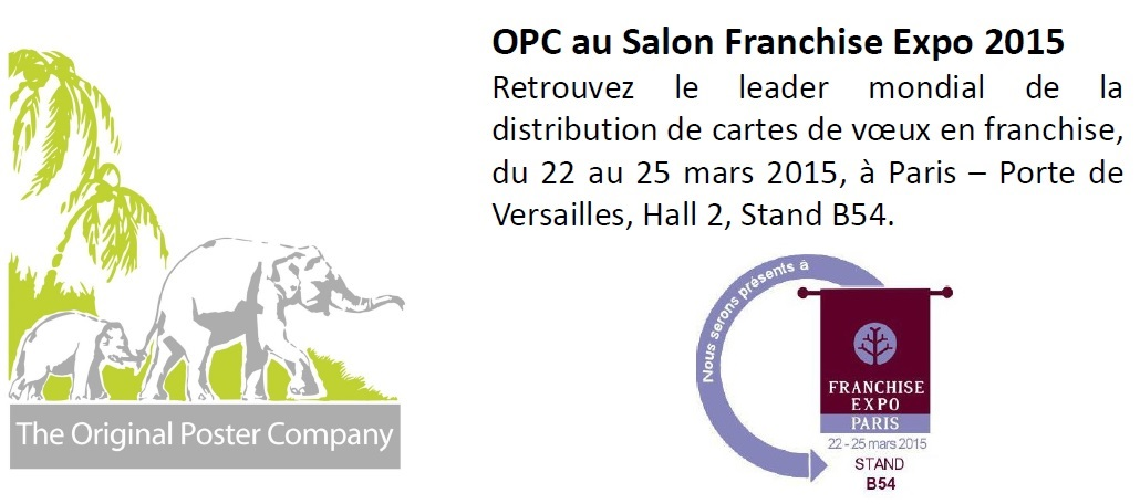 Franchise original poster company leader mondial de la distribution de cartes en franchise - Salon de la franchise date ...