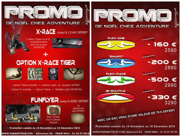 les promotions de nol sont dj chez adventure. Black Bedroom Furniture Sets. Home Design Ideas