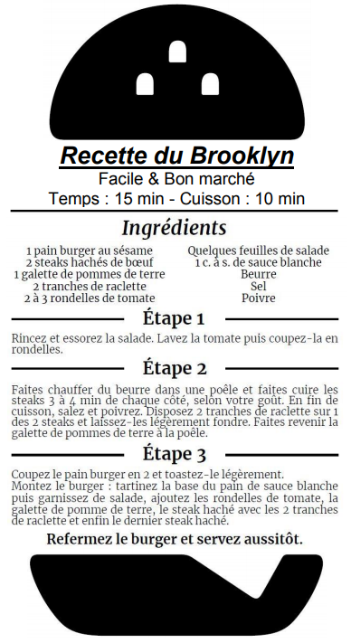 Franchise Speed Burger recette du mythique Brooklyn