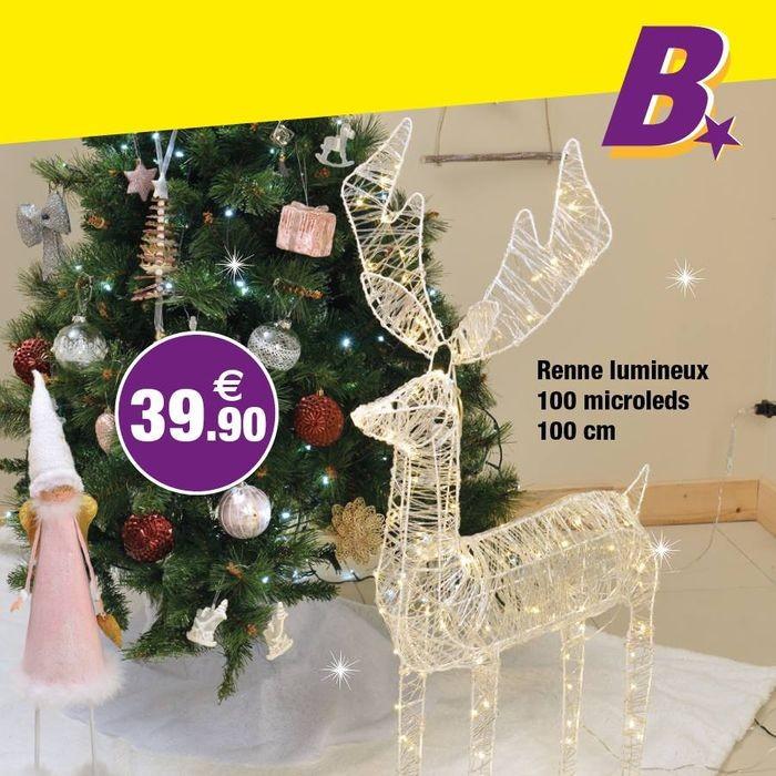 Renne Lumineux Bazarland Décoration Noël