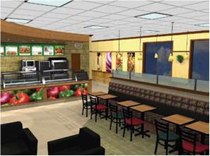 la franchise de restauration rapide subway s 39 offre un nouveau d cor. Black Bedroom Furniture Sets. Home Design Ideas