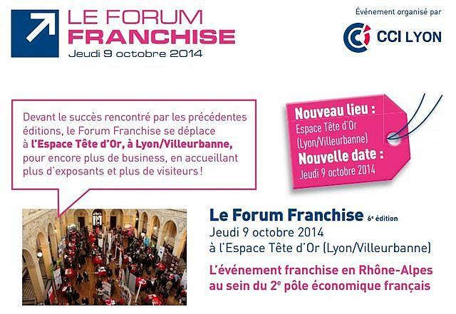 Le forum franchise lyon 2014 prend une nouvelle ampleur for Salon des franchises lyon