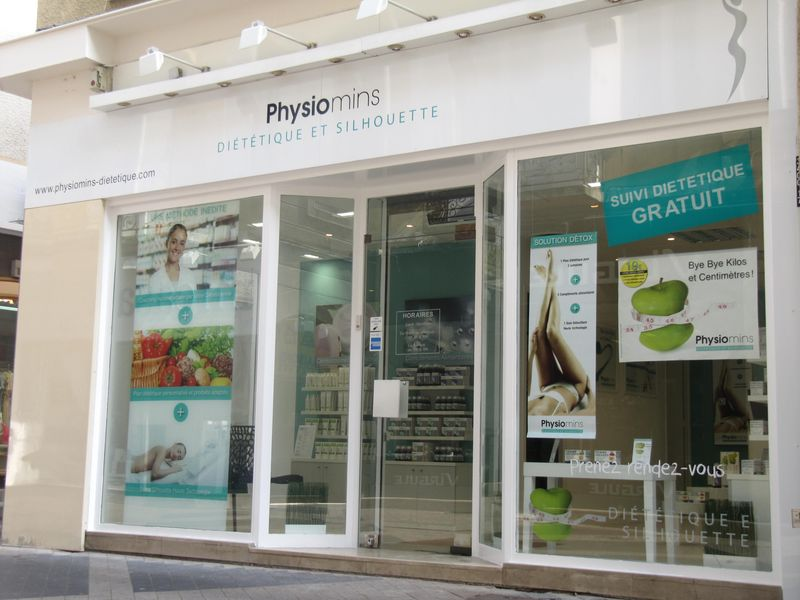 physiomins vitrine centre